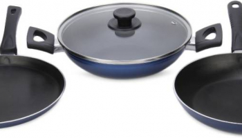 Pigeon Essentials Cookware Set  at Rs.899(MRP=Rs.2450)