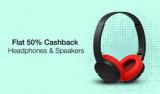 Paytm Big Ausio Sale : Get 50% Cashback On Audio devices and headphones