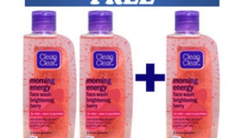 Clean & Clear Morning Energy Face Wash Buy 2 Get 1 Free + free shipping +Extra 25% Cashbacks