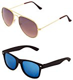 Aviator Mirrored Wayfarer Combo Sunglasses of Rs.1999 at just Rs.359/-