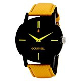 Golden Bell Original Black Dial Yellow Strap Analog Wrist Watch of Rs.1599 at Just Rs.296/- (6 Month Warranty)