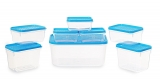 Plastics Polka Container Set, Set of 8, Blue just at Rs. 94