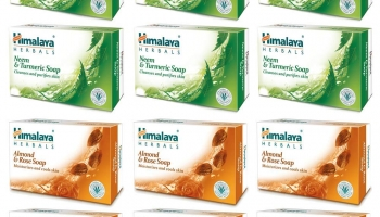 Himalaya Herbals Neem and Turmeric Soap, 125g Pack of 12 at Rs.264