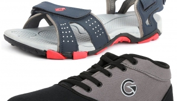Lotto Mens's Combo Of Sandal & Globalite Casual Shoes at Rs.629(mrp=rs.899)