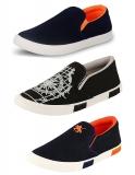 Jabra Men's Blue-Black Sneakers (Combo of 3) at Rs.512(Mrp=Rs.999)