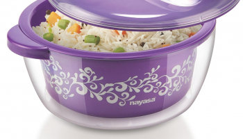 Amazon Loot:Nayasa Nova Plastic Casserole with Spoon At Just Rs 187 (Worth Rs 439)