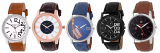 5 Stylish Watch Combo With Multi Colour Dial at Rs.499