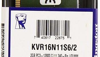 Kingston Technology ValueRAM 2GB 1600MHz DDR3 Ram @1449