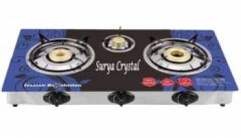 Surya 3 Burner Gas Stove with Automatic Ignitiation at Rs.1499