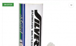 Silver's Marvel Feather Shuttle – White  (Slow, 75, Pack of 3) at Rs.58