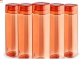Cello H2O Squaremate Plastic Water Bottle, 1-Liter, Set of 5@380