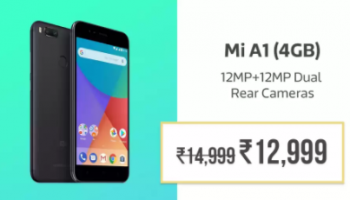 Flipkart Sale : Xiaomi MI A1 at Rs.12999 instead of Rs.14999