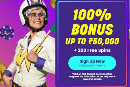 Wildz Casino – Signup & Get 100% Bonus on First Deposit UP TO ₹50,000 + 200 Free Spins