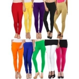 Pack Of 10 Multicoloured Cotton Lycra Leggings By Lavennder of Rs.3299/- at Just Rs.849/-