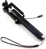 KG Collection Cable Selfie Stick  (Black, Silver)