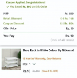Pepperfry Rs.750 off on No Minimum Order Value