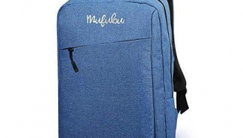 Mufubu Presents Iconic Slim Casual Laptop Backpack Bag for Students & Office Professionals (Blue) @399