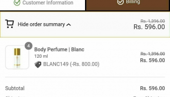 (Add 4 Qty) TheManCompany Blanc Body Perfume 120ml @596