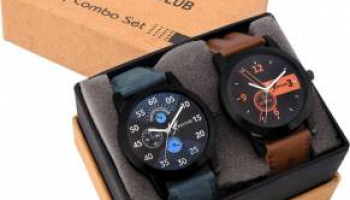 Rich Club Set Of Two Combo Watch For Men Of Rs 999 At Just Rs 254/-