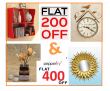 Pepperfry Diwali Offer : Rs.200 Off On Purchasing Rs.250 & Above & Rs.400 Off Purchasing On Rs.799