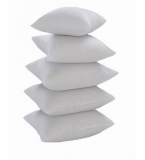 White Polyester 16 x 16 Inch Non Woven Cushion Inserts – Set of 5 by Zikrak Exim at Rs.329